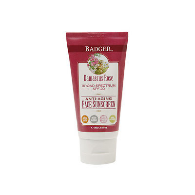 BADGER® Damascus Rose SPF 20 Face Sunscreen Lotion with Lavender & Chamomile