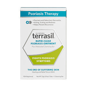 Terrasil Rapid-Relief Psoriasis Ointment Plus Medicated Cleansing Bar, 1 ea