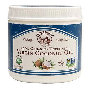 La Tourangelle 100% Organic & Unrefined Virgin Coconut Oil, 15 oz