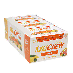 Xylichew Soft Chewing Gum Sweetened with Birch Xylitol Blister Packs, Fruit, 12 pk, 144 ea