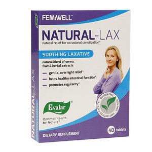 Evalar FEMiWELL Natural-LAX Soothing Laxative, 40 ea
