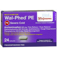 Walgreens Wal-Phed PE Severe Cold Caplets
