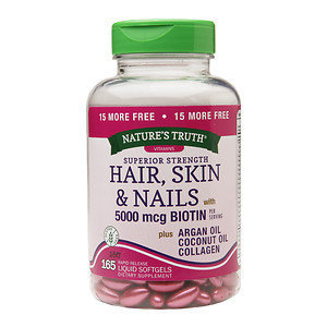 Nature's Truth Superior Strength Hair, Skin & Nails with 5000mcg Biotin, 185 ea