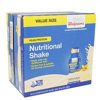 Walgreens Nutrition Shakes Plus Protein, Vanilla Bean, 16 pk, 8 oz