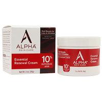 Alpha Skin Care Essential Renewal Cream 10% Glycolic AHA, 2 oz