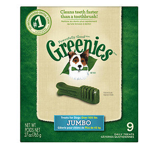 Greenies Dog Dental Chew Treats Jumbo 27oz 9ct