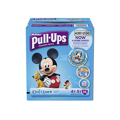Huggies Pull-Ups Training Pants with Cool & Learn for Boys, 4T-5T, 56 ea