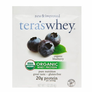Teras Whey Blueberry Whey Protein Made With Organic Ingredients 1 Oz. Pack of 12