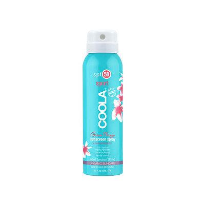COOLA Sport Continuous Spray SPF 50, Guava Mango, Travel, 3.4 oz
