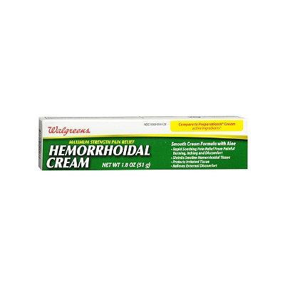 Walgreens Hemorrhoidal Pain Relief Cream, 1.8 oz