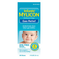 Mylicon Infant Gas Relief Drops Dye Free Formula, 1 oz
