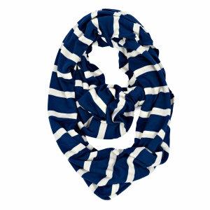 Itzy Ritzy Nursing Happens Infinity Breast Feeding Scarf (Nantucket Navy Stripe)