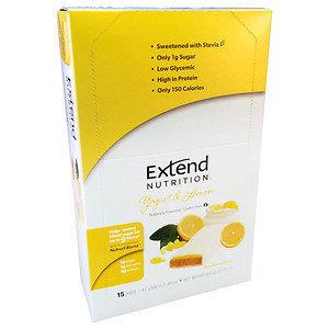 Extend Nutrition Bars, Yogurt & Lemon, 15 pk, 22.22 oz