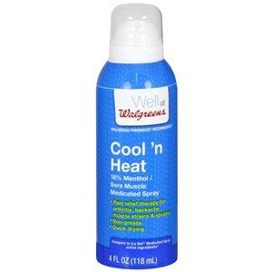 Walgreens Cool 'N Heat Sore Muscle Medicated Spray