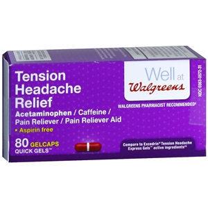 Walgreens Tension Headache Relief Gelcaps, 80 ea
