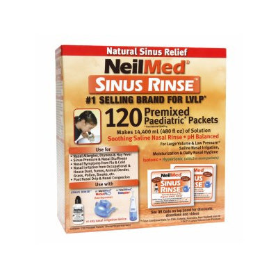 NeilMed Sinus Rinse Pediatric Refill Packets, 120 ea