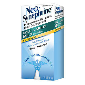 Neo-Synephrine Cold & Sinus Mild Strength Nasal Decongestant Spray, .5 fl oz