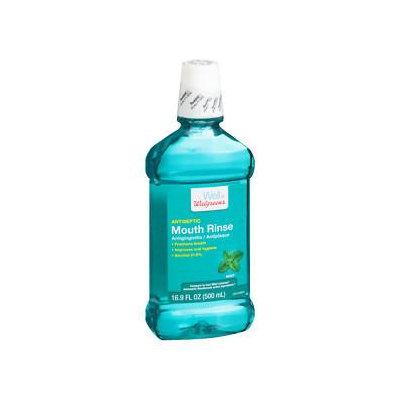 Walgreens Mouthwash, Mint, 16.9 oz