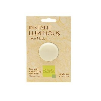 Andalou Naturals Instant Luminous Clay Mask, 0.28 Oz