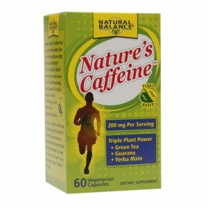 Natural Balance Nature's Caffeine 200mg, Vegetarian Capsules, 60 ea