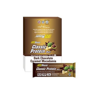 Mauer Classic Protein Bar, Dark Chocolate Caramel Macadamia, 12 pk, 2.6 oz