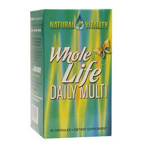 Natural Vitality Organic Whole Life Daily Multi Vitamin - 90 capsules