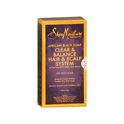 SheaMoisture African Black Soap Clear & Balance Hair & Scalp System