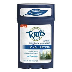 Tom's of Maine 24-Hour Men's Natural Long Lasting Natural Deodorant - North Woods - 2.25 oz