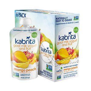Kabrita Goat Milk Yogurt & Fruit - Mango Peach - 4 oz