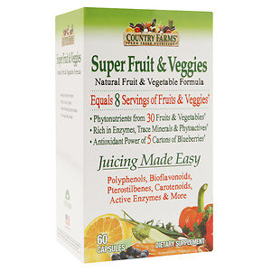 Country Farms Super Veggie & Fruits, 60 ea