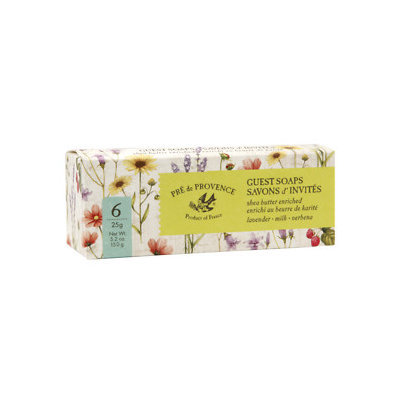 Pre de Provence Guest Soaps Gift Box, Assorted, 6 ea