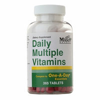 Mason Natural Daily Multiple Vitamins, Tablets, 365 ea
