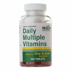Mason Natural Daily Multiple Vitamins, Tablets, 365 ea