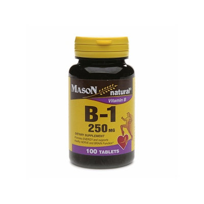 Mason Natural Vitamin B-1, 250mg, Tablets