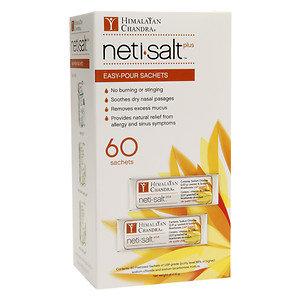 Himalayan Institute Neti Salt Plus Refill Sachet, 60 ea