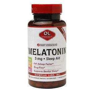 Olympian Labs Melatonin 5mg Fast Dissolve Sleep Aid, Tablets, 60 ea