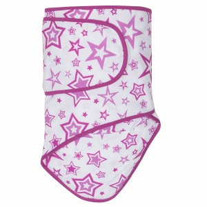 Miracle Industries Miracle Blanket - Radiant Orchid Stars with Orchid Trim (Newborn)
