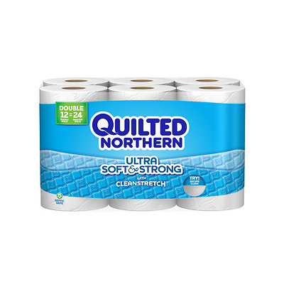 Georgia Pacific Quilted Northern Ultra Soft & Strong Toilet Paper 48 Double Rolls