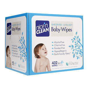 nicenCLEAN Baby Wipes, Unscented