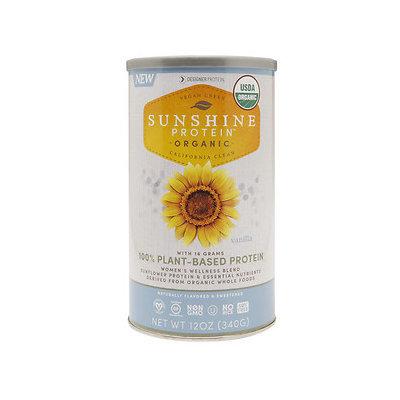 Designer Whey Sunshine Protein Organic, Vanilla, 12 oz