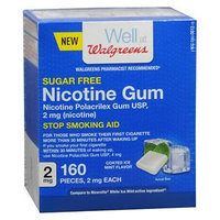 Walgreens Nicotine Coated Gum 2 mg, Mint, 160 ea