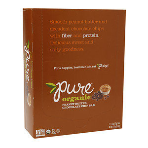 Pure Organic Raw Fruit & Nuts Bars, Peanut Butter Chocolate Chip, 12 ea