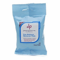 Jean Pierre Cosmetics Cleansing & Refreshing Eye & Makeup Remover Pads, Purse Size Travel Pack