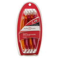 Studio 35 Beauty Women's Triple Blade Disposable Razors, 8 ea