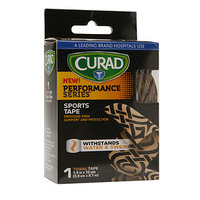 Curad Performance Series Sports Tape, 1.5 inch x 10 yds (3.8cm x 9.1 m), Tribal, 1 ea