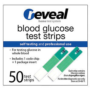 reveal Blood Glucose Test Strips, 50 ea