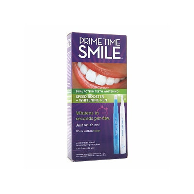 Prime Time Smile Dual Action Teeth Whitening Speed Booster + Whitening Pen