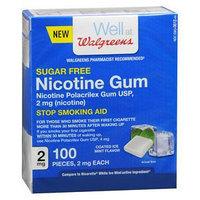 Walgreens Nicotine Coated Gum 2 mg, Mint, 100 ea