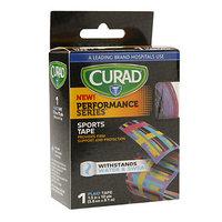 Curad Performance Series Sports Tape, 1.5 inch x 10 yds (3.8cm x 9.1 m), Plaid, 1 ea