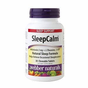 Holista Webber Naturals SleepCalm Natural Sleep Formula Chewable Tablets Tropical Fruit